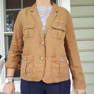 J. Crew cotton/ linen canvas military Jacket sz 6